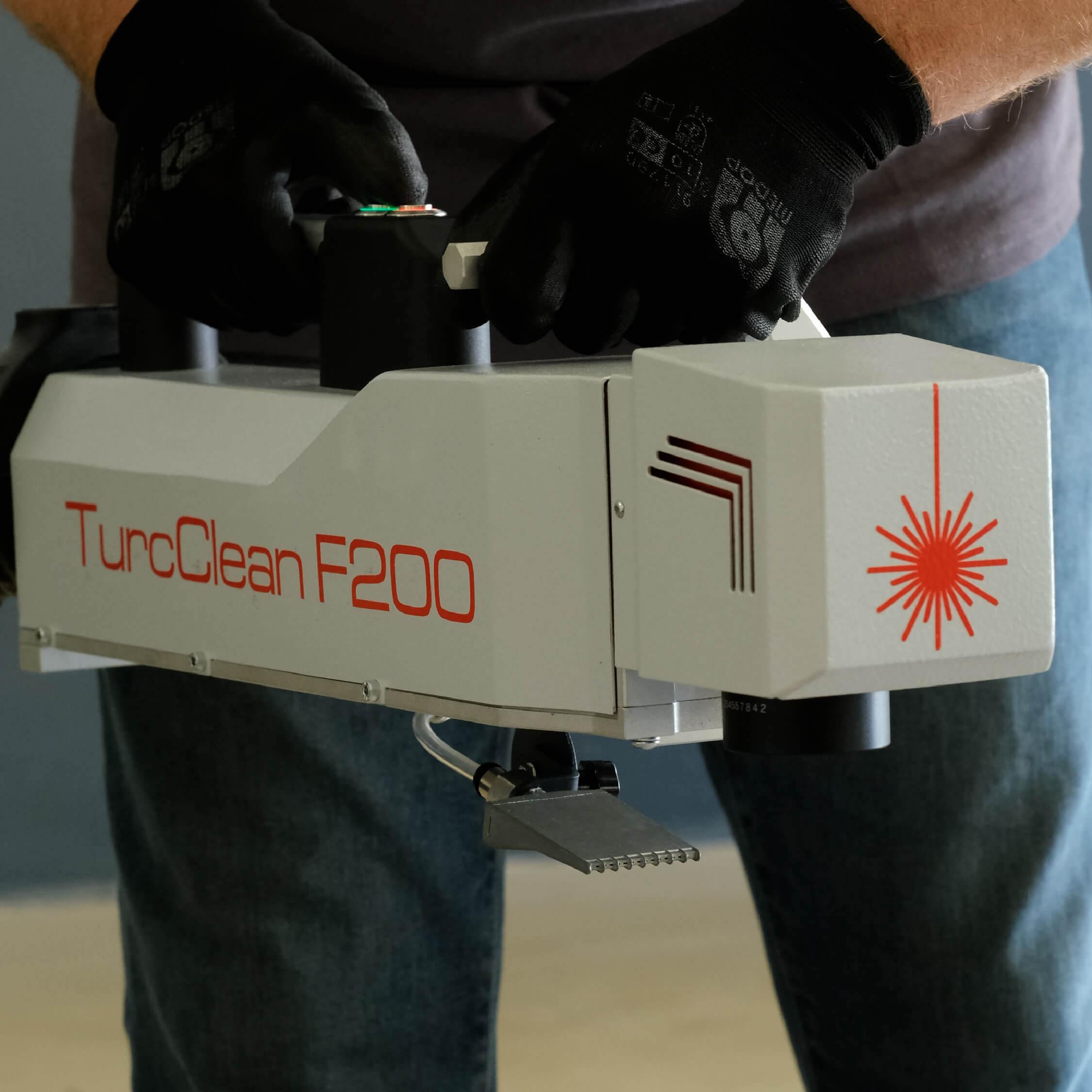 laser video cover handheld clean